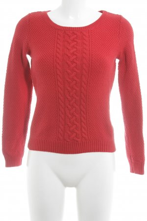 s.Oliver Zopfpullover rot Zopfmuster Casual-Look