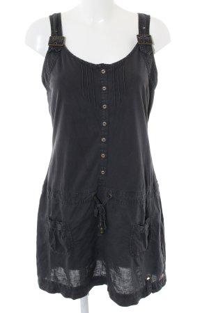 S'questo Vestido de camuflaje negro look casual