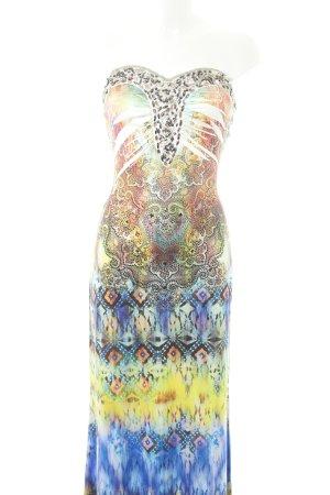 S-twelve Vestido bustier estampado con diseño abstracto estilo extravagante