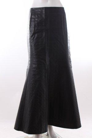 Falda larga negro Imitación de cuero