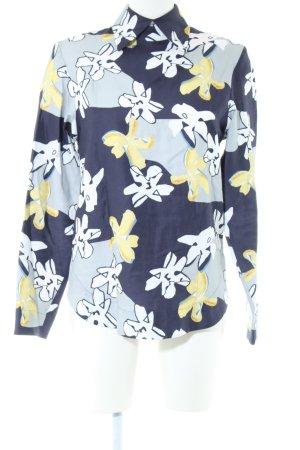 Sabinna Langarm-Bluse Blumenmuster Casual-Look