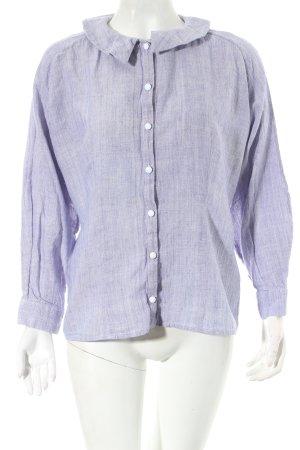 Sabinna Langarm-Bluse himmelblau klassischer Stil