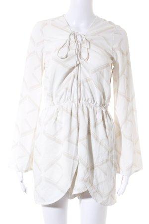 Sabo Skirt Jumpsuit beige-wollweiß grafisches Muster klassischer Stil