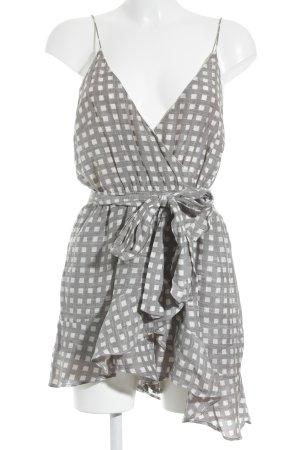 Sabo Skirt Jumpsuit grau-weiß Karomuster klassischer Stil