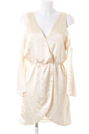 Sabo Skirt Langarmkleid apricot-weiß Punktemuster Romantik-Look