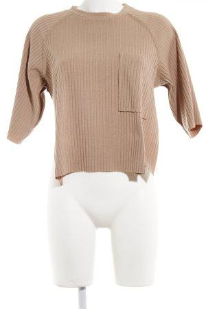 Sabo Skirt Ribbed Shirt beige elegant