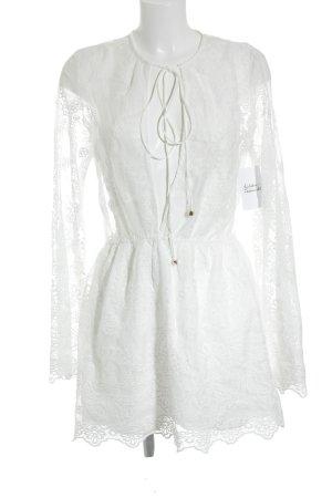 Sabo Skirt Spitzenkleid weiß florales Muster Romantik-Look