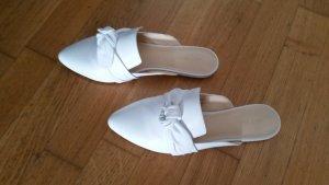 Nine west Sabots white leather