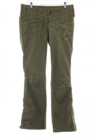 Sabotage Stoffhose khaki-dunkelgrün extravaganter Stil