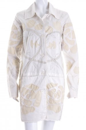 Sabotage Übergangsmantel creme-beige abstraktes Muster Casual-Look