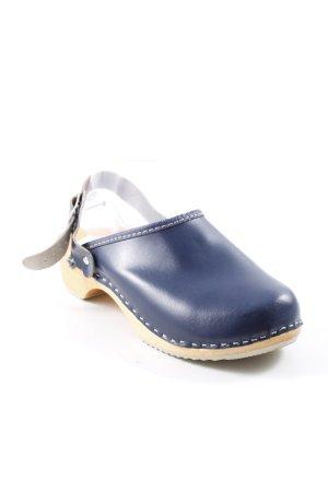 Sabots camel-dunkelblau extravaganter Stil