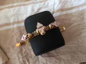 Sabrina Dehoff Statement-Armband vergoldet, rosa, Perlmutt
