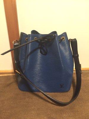 Louis Vuitton Sac seau noir-bleu foncé cuir