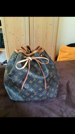 Louis Vuitton Sac seau cognac cuir