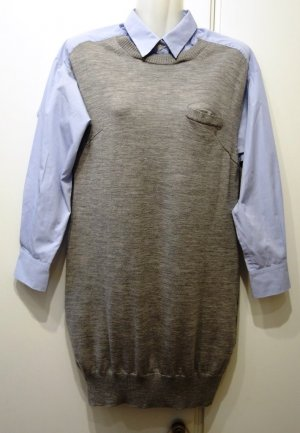 Sacai Luck Japan Pullover Hemdkleid grau blau Gr. XS/S (36) Clean Chic Lagenlook