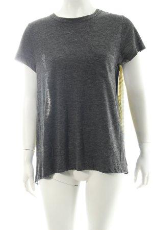 Sacai T-Shirt abstraktes Muster Eleganz-Look