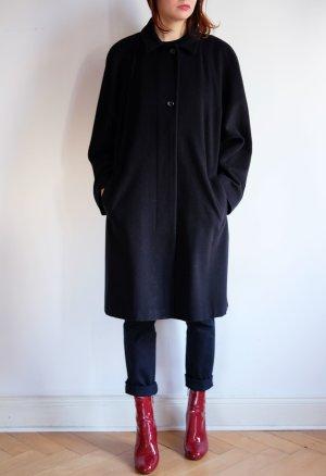 Cappotto in lana blu scuro Cachemire