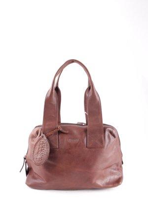 Saccoo Handtasche dunkelbraun klassischer Stil