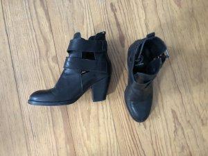 Sacha Blogger Riemchen Pistol Boots Stiefeletten Leder 36
