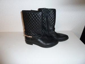 Sacha Booties black leather