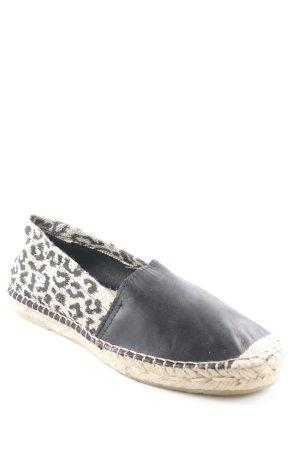 Sacha Espadrille Sandals black leopard pattern simple style
