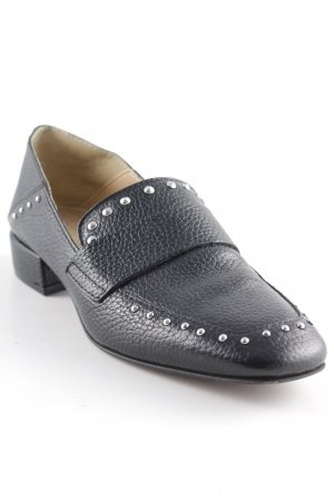 Sacha Moccasins black-silver-colored extravagant style