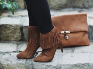 Sacha Zipper Booties brown country style