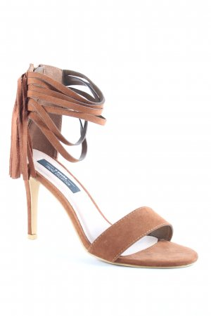 Sacha Strapped High-Heeled Sandals cognac-coloured Boho look