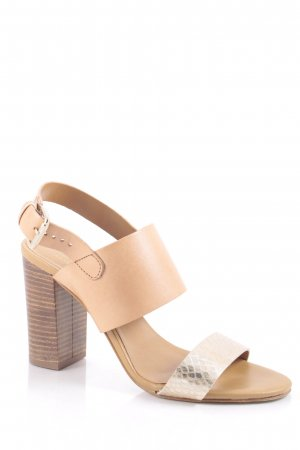 Sacha Strapped High-Heeled Sandals nude-gold-colored classic style