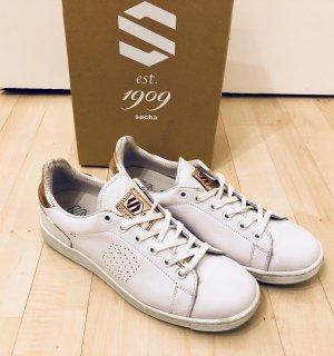 Sacha Sneaker stringata bianco-color oro rosa