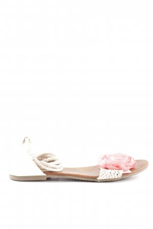 Sacha Beach Sandals white-pink weave pattern casual look