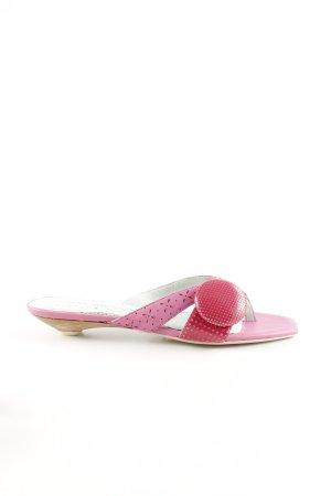 Sachelle Flip-Flop Sandals pink mixed pattern elegant