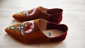 Sack's Luxury Zapatos sin cordones coñac-carmín Gamuza