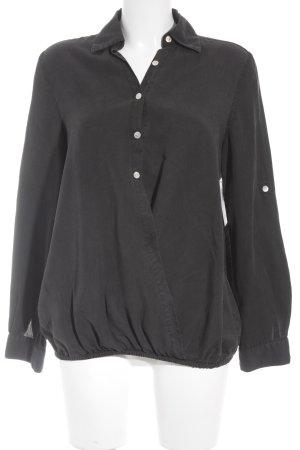 Sack's Langarm-Bluse schwarz Casual-Look