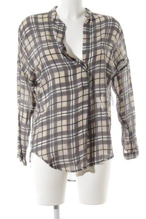 Sack's Luxury Zijden blouse geruite print casual uitstraling