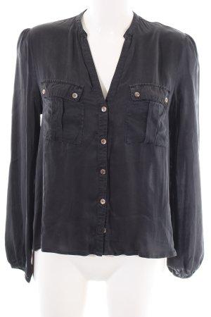 Sack's Silk Blouse black business style