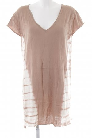 Sack's T-shirt jurk beige-wolwit abstract patroon casual uitstraling