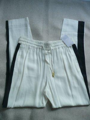 Sack's Pantalón de pinza alto crema-negro