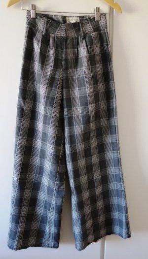 Pantalon taille haute gris clair-noir