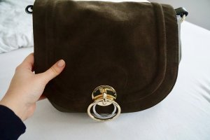 Saddle Bag Large in dunkelgrün
