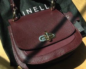 "Saddle-Bag von ""Minelli"" in Bordeaux/ Neu"