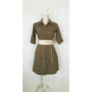 Safari Cargo Blusen Kleid Hemdkleid von 3Suisseskhaki