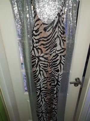 safari jumpsuit tigerprint gr.s von h&m