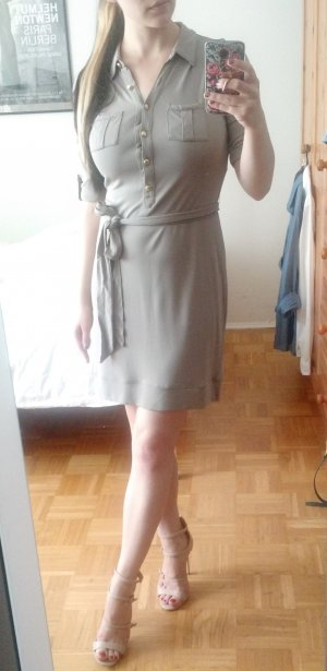 Safari Kleid von Banana Republic Gr. S 36 grau taupe blogger military sexy