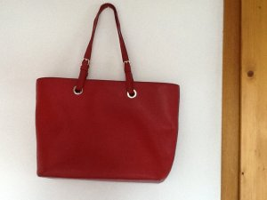 DKNY Shopper brick red-neon red leather