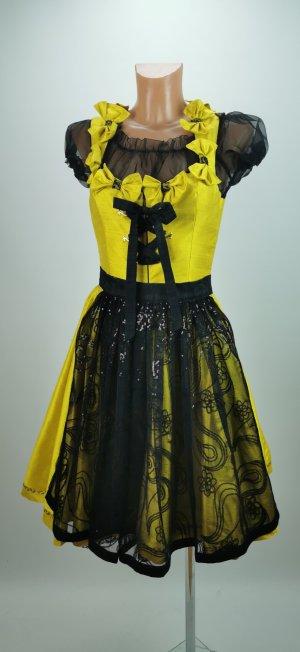 Robe avec jupon jaune citron vert