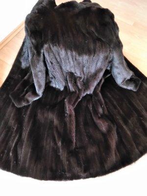 Saga Mink Pelt Coat dark brown-black brown