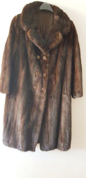 Saga Mink Pelt Coat brown