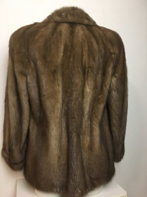 Saga Mink Pelt Coat bronze-colored