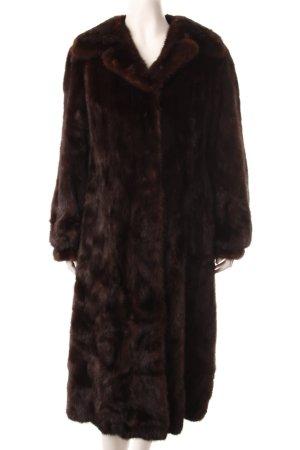 Saga Mink Pelt Coat dark brown-brown extravagant style